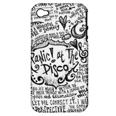 Panic! At The Disco Lyric Quotes Apple Iphone 4/4s Hardshell Case (pc+silicone) by Onesevenart