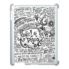 Panic! At The Disco Lyric Quotes Apple Ipad 3/4 Case (white) by Onesevenart