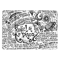 Panic! At The Disco Lyric Quotes Samsung Galaxy Tab 10 1  P7500 Flip Case by Onesevenart