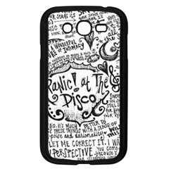 Panic! At The Disco Lyric Quotes Samsung Galaxy Grand Duos I9082 Case (black) by Onesevenart