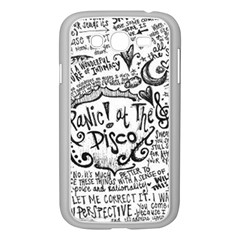 Panic! At The Disco Lyric Quotes Samsung Galaxy Grand Duos I9082 Case (white) by Onesevenart
