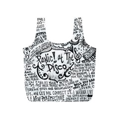 Panic! At The Disco Lyric Quotes Full Print Recycle Bags (s)  by Onesevenart
