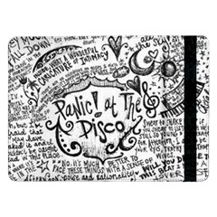 Panic! At The Disco Lyric Quotes Samsung Galaxy Tab Pro 12 2  Flip Case by Onesevenart