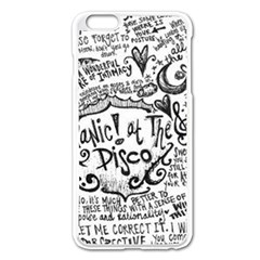 Panic! At The Disco Lyric Quotes Apple Iphone 6 Plus/6s Plus Enamel White Case by Onesevenart