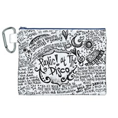 Panic! At The Disco Lyric Quotes Canvas Cosmetic Bag (xl) by Onesevenart
