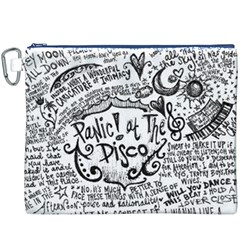 Panic! At The Disco Lyric Quotes Canvas Cosmetic Bag (xxxl) by Onesevenart