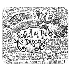 Panic! At The Disco Lyric Quotes Double Sided Flano Blanket (small)  by Onesevenart