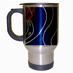 Panic! At The Disco Released Death Of A Bachelor Travel Mug (silver Gray) by Onesevenart