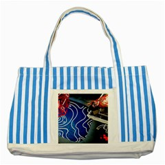 Panic! At The Disco Released Death Of A Bachelor Striped Blue Tote Bag by Onesevenart