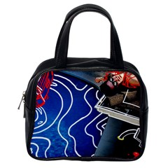 Panic! At The Disco Released Death Of A Bachelor Classic Handbags (one Side) by Onesevenart