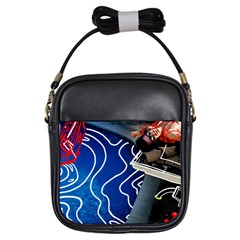 Panic! At The Disco Released Death Of A Bachelor Girls Sling Bags by Onesevenart