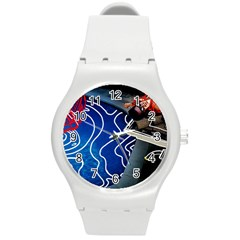 Panic! At The Disco Released Death Of A Bachelor Round Plastic Sport Watch (m) by Onesevenart