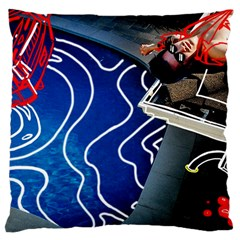 Panic! At The Disco Released Death Of A Bachelor Large Cushion Case (one Side) by Onesevenart