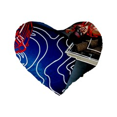Panic! At The Disco Released Death Of A Bachelor Standard 16  Premium Heart Shape Cushions by Onesevenart