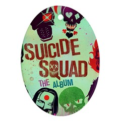 Panic! At The Disco Suicide Squad The Album Ornament (oval) by Onesevenart