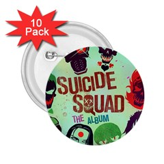 Panic! At The Disco Suicide Squad The Album 2 25  Buttons (10 Pack)  by Onesevenart