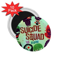 Panic! At The Disco Suicide Squad The Album 2 25  Magnets (10 Pack)  by Onesevenart
