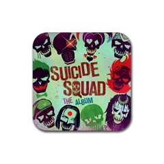 Panic! At The Disco Suicide Squad The Album Rubber Square Coaster (4 Pack)  by Onesevenart