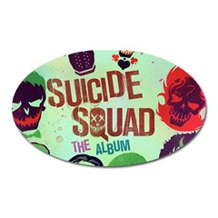 Panic! At The Disco Suicide Squad The Album Oval Magnet by Onesevenart