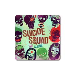 Panic! At The Disco Suicide Squad The Album Square Magnet by Onesevenart