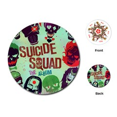 Panic! At The Disco Suicide Squad The Album Playing Cards (round)  by Onesevenart