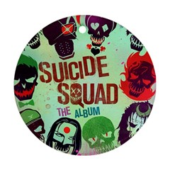 Panic! At The Disco Suicide Squad The Album Round Ornament (two Sides) by Onesevenart