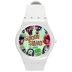 Panic! At The Disco Suicide Squad The Album Round Plastic Sport Watch (m) by Onesevenart