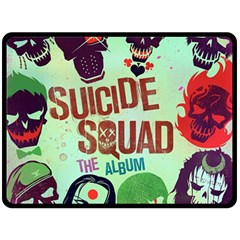 Panic! At The Disco Suicide Squad The Album Double Sided Fleece Blanket (large)  by Onesevenart