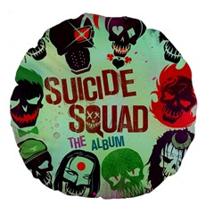 Panic! At The Disco Suicide Squad The Album Large 18  Premium Flano Round Cushions by Onesevenart