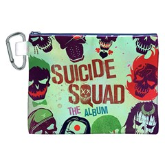 Panic! At The Disco Suicide Squad The Album Canvas Cosmetic Bag (xxl) by Onesevenart