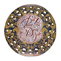 Panic! At The Disco Round Filigree Ornament (two Sides) by Onesevenart