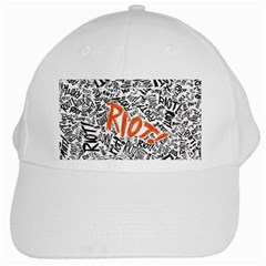 Paramore Is An American Rock Band White Cap by Onesevenart