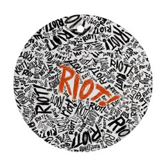 Paramore Is An American Rock Band Ornament (round) by Onesevenart