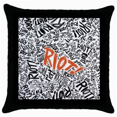 Paramore Is An American Rock Band Throw Pillow Case (black) by Onesevenart