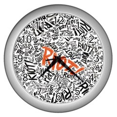 Paramore Is An American Rock Band Wall Clocks (silver)  by Onesevenart