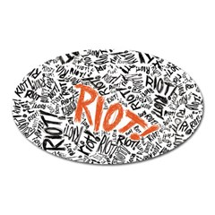 Paramore Is An American Rock Band Oval Magnet by Onesevenart