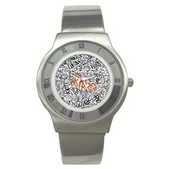 Paramore Is An American Rock Band Stainless Steel Watch by Onesevenart