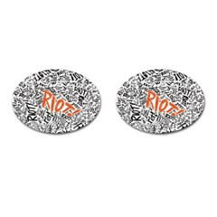 Paramore Is An American Rock Band Cufflinks (oval) by Onesevenart