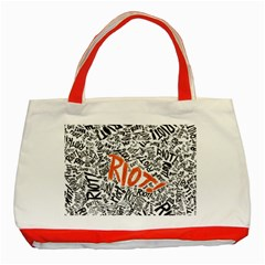 Paramore Is An American Rock Band Classic Tote Bag (red) by Onesevenart