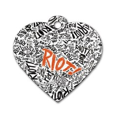 Paramore Is An American Rock Band Dog Tag Heart (two Sides) by Onesevenart