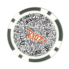 Paramore Is An American Rock Band Poker Chip Card Guard (10 Pack) by Onesevenart