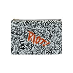 Paramore Is An American Rock Band Cosmetic Bag (medium)  by Onesevenart