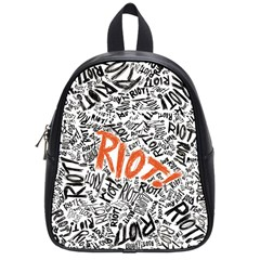 Paramore Is An American Rock Band School Bags (small)  by Onesevenart