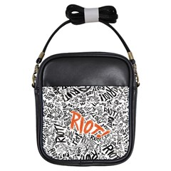 Paramore Is An American Rock Band Girls Sling Bags by Onesevenart
