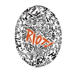 Paramore Is An American Rock Band Oval Filigree Ornament (two Sides) by Onesevenart