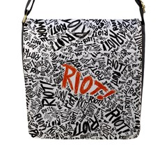 Paramore Is An American Rock Band Flap Messenger Bag (l)  by Onesevenart
