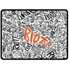 Paramore Is An American Rock Band Double Sided Fleece Blanket (large)  by Onesevenart