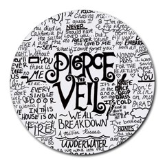 Pierce The Veil Music Band Group Fabric Art Cloth Poster Round Mousepads by Onesevenart