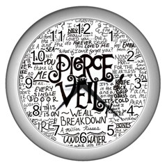 Pierce The Veil Music Band Group Fabric Art Cloth Poster Wall Clocks (silver)  by Onesevenart