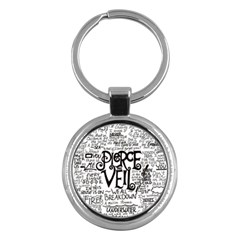 Pierce The Veil Music Band Group Fabric Art Cloth Poster Key Chains (round)  by Onesevenart